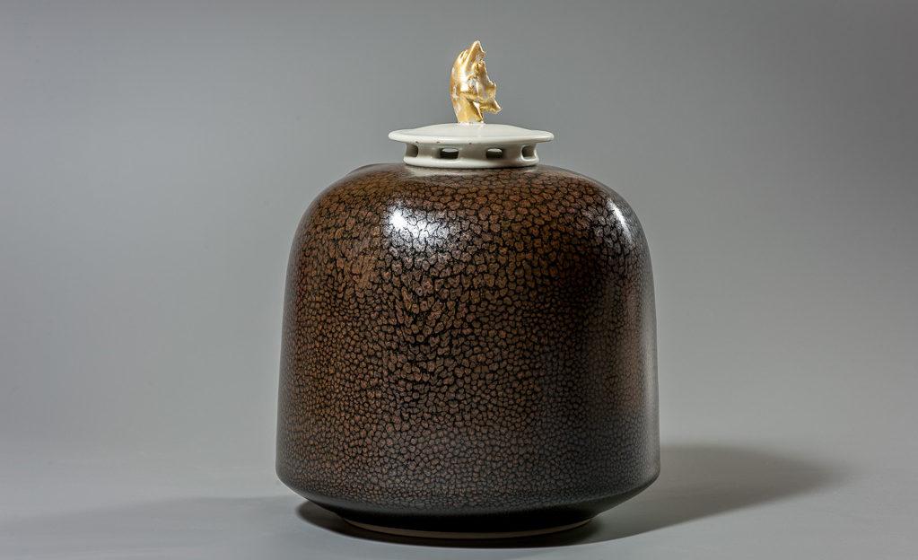 Boite a gouttes d'huile xavier duroselle porcelaines