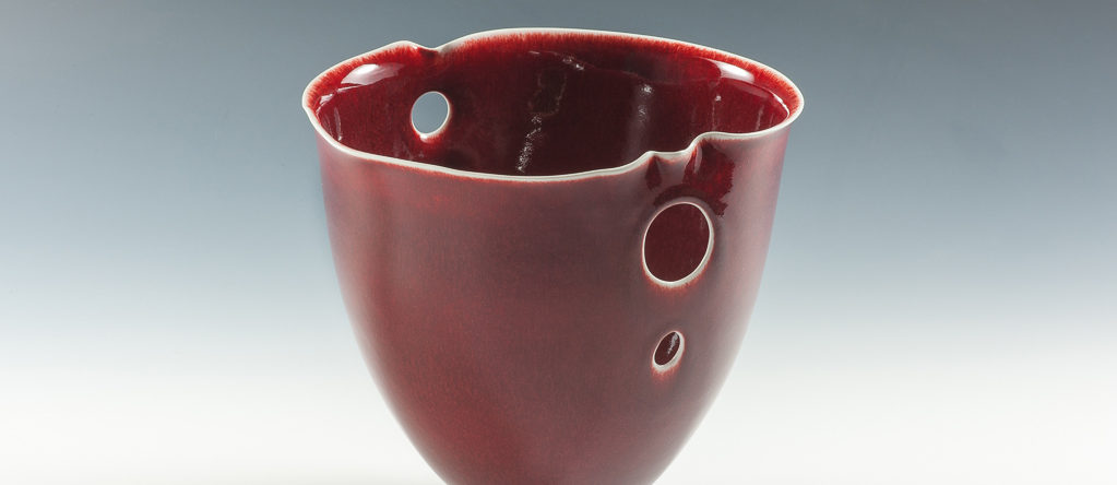 Coupe rouge xavier duroselle porcelaines