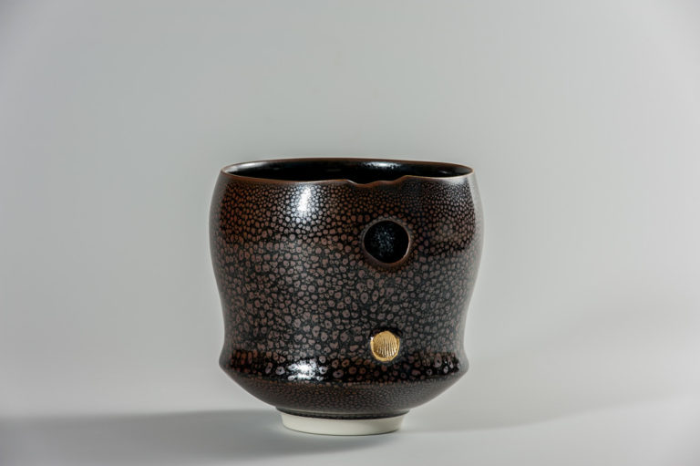 Bol droit a gouttes d'huile xavier duroselle porcelaines