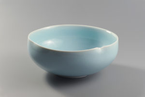 Coupe bleue xavier duroselle porcelaines