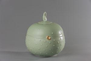 Boite ronde celadon xavier duroselle porcelaines