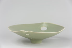 Coupe ouverte celadon xavier duroselle porcelaines