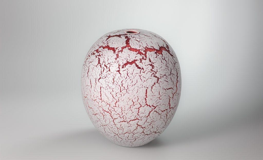 Boule craquelée xavier duroselle porcelaines