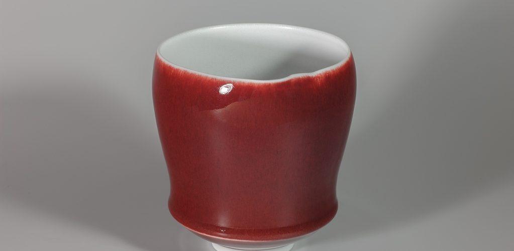 Calice rouge xavier duroselle porcelaines