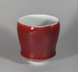 Calice rouge xavier duroselle porcelaines