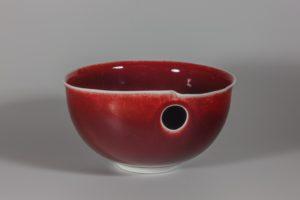 Bol percé rouge xavier duroselle porcelaines