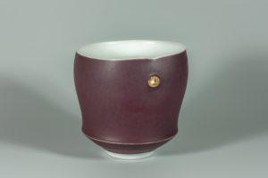 Calice rouge mat xavier duroselle porcelaines
