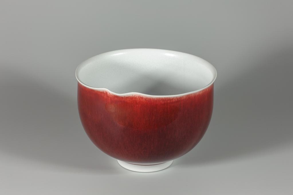 Bol rouge xavier duroselle porcelaines